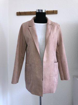 Neu, Long Blazer Zara, Wildlederoptik Rose Gr. 28