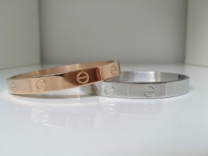 Bangle silver-colored stainless steel