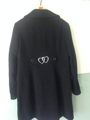 Love Moschino Manteau en laine noir laine vierge