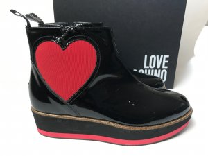 Love Moschino Boots black leather