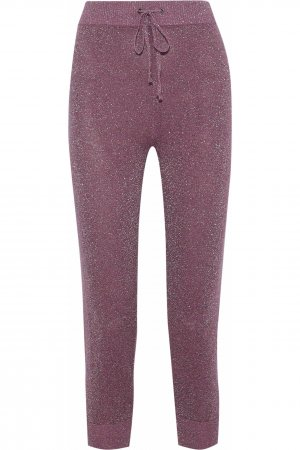 Sweat Pants grey lilac-silver-colored cotton