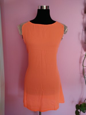 NEU, Luftiges Kleid in knalligem neonorange (K2)