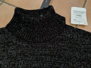 Neu! Lurex Rollkragenpulli schwarz-silber von Vero Moda L. (42/44)