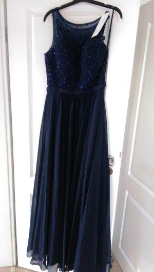 NEU!!! LUXUAR Fashion Gr. M Abendkleid Ballkleid nachtblau / dunkelblau / blau