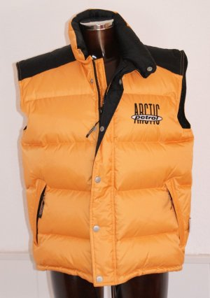 Down Vest orange-black polyester