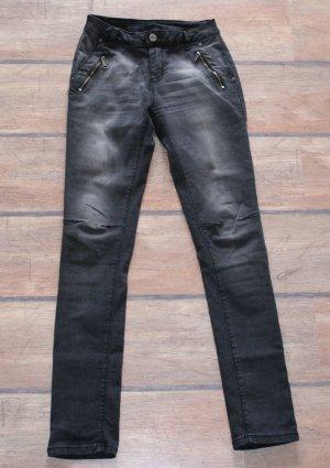 Drainpipe Trousers black cotton