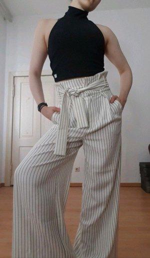 Asos White High Waist Trousers white-black
