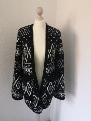 Element Norwegian Cardigan white-black