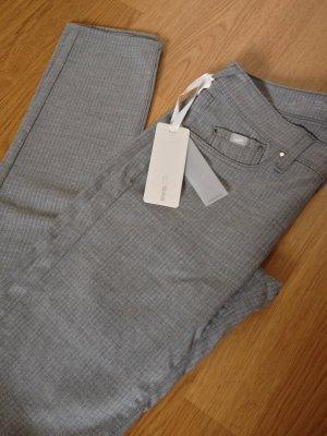 NEU m.Etikett GAS Jeans Hose Röhrenhose Skinny Blogger Jeans Grau XS 25 32 34