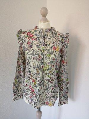 Neu m. Etikett H&M Bluse Gr. 38 Blumen romantisch verspielt