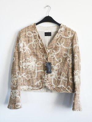 NEU m. Etikett RENA LANGE Jacket Jacke Blazer Boucle Tweed Spitze D 42 L