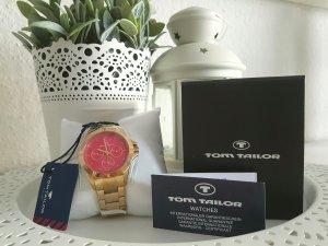 Neu m. Etikett - Uhr von Tom Tailor; gold/pink Np: 130€