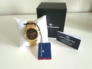 Neu m. Etikett - Uhr von Tom Tailor; gold/schwarz Np: 130€