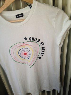 Neu M Naomi Campbell Diesel Herz Shirt weiss