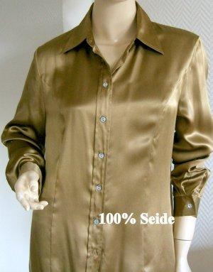 NEU- Madeleine- Hemdbluse aus 100% HOCHWERTIGER Seide- Gr. 38 -