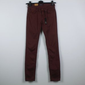 Maison Scotch Peg Top Trousers red-dark red cotton