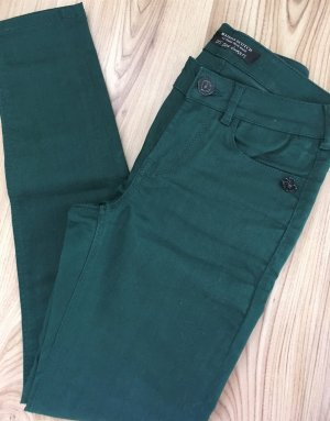 Neu Maison Scotch Röhren Jeans W25 L30 XS 32 34 Dunkelgrün Slim Fit Ankle Super Skinny Hose Jeggings