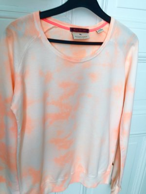 Maison Scotch Sweatshirt wit-neonoranje Katoen