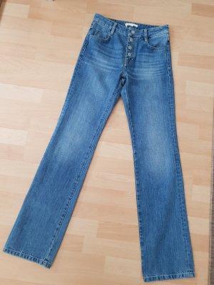 Maje Hoge taille jeans blauw Katoen