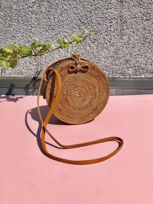 Neu! Mango Bastkorb Tasche Stroh French Street Style Blogger