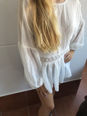 Mango Short Sleeved Blouse white