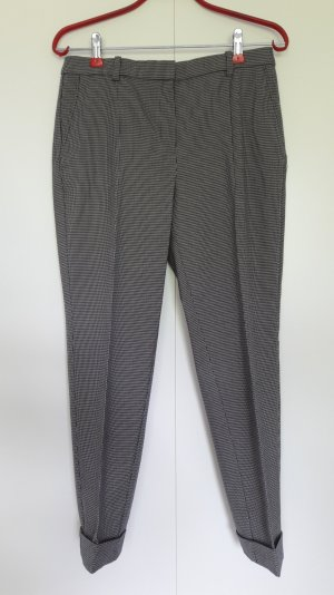 NEU Mango Businesshose schmaler Schnitt Hahnentrittmuster schwarz weiß knöchellang Gr. 36