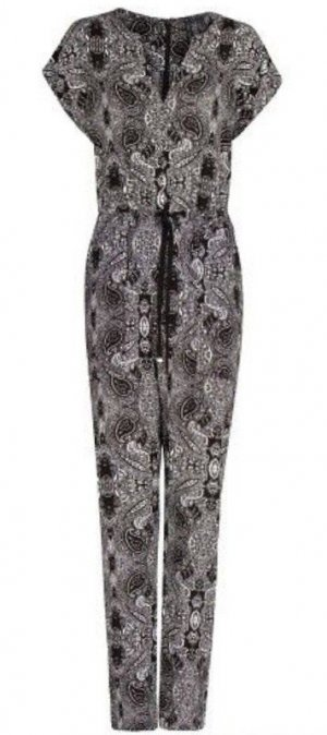 *neu* Mango Jumpsuit Overall Gr. S - Paisley Muster schwarz weiß