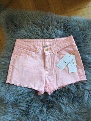 NEU Mango Shorts kurze Hosen rosa pink XS 34 36 high waist