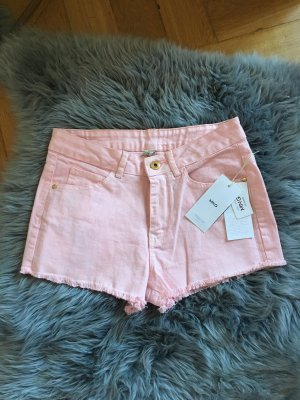 NEU Mango Shorts pink pastellpink XS 34 36 kurze Hosen Sommer Bonbon jeansshort