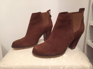 Mango Boots brown leather