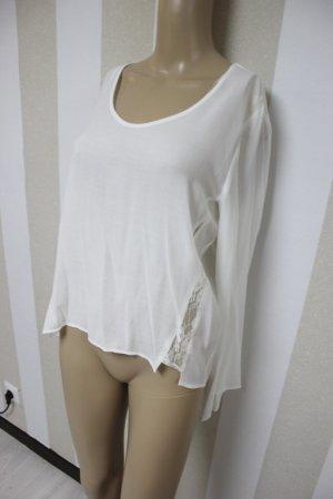 NEU Mango Tunika Shirt Spitze Lace Größe L
