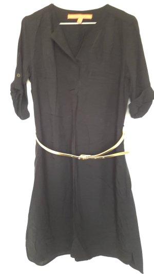 NEU Mango Tunikakleid mit Gürtel 3/4 Arm schwarz Gr. XS