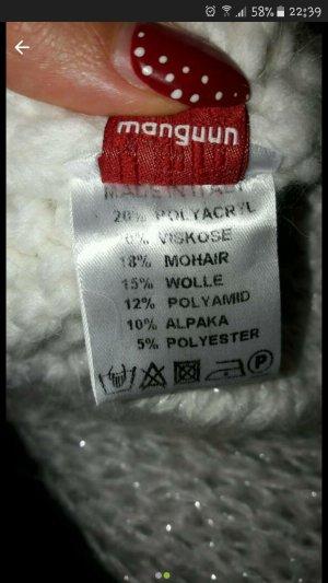 Neu Manguun Set Mütze + Schal Farbe Crem