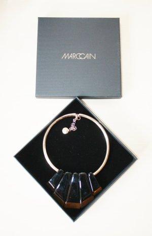 Marc Cain Collier incrusté de pierres doré-brun noir