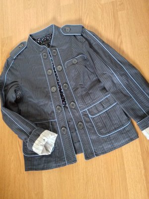 NEU Marc Jacobs Blazer XS 34 UK6 Blogger Marine Trench Jacke Blau Maritim