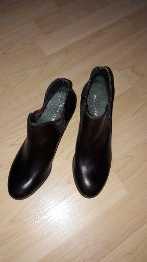NEU Marc O'Polo Echtleder Chelsea-Stiefeletten Ankle Boots Absatz 6,5cm dunkelbraun Gr. UK4 (EU37)