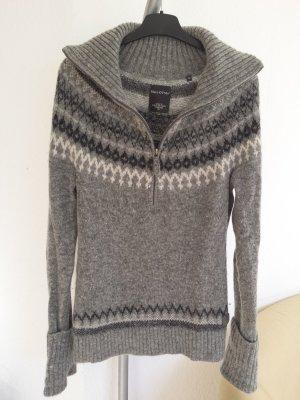 Neu Marc O Polo Pullover Wolle Mohair Norweger Grau Schwarz  Gr M , NP 209,00