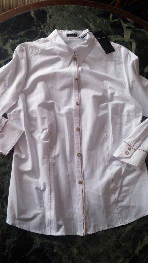 Marcona Cuello de blusa blanco Algodón