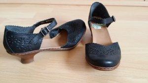Rieker High-Heeled Sandals black leather