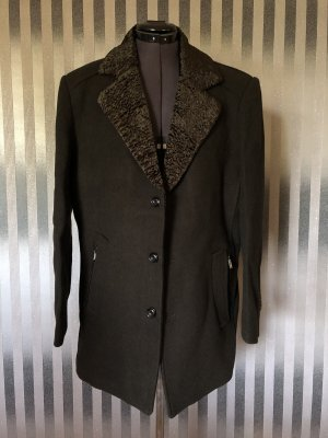Abrigo corto gris antracita