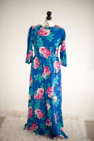 NEU Maxikleid blau Blume