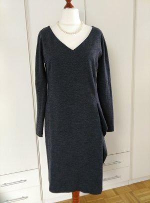 NEU! MaxMara Wollkleid winterkleid Herbstkleid it.48 Gr.42 DE grau gefüttert