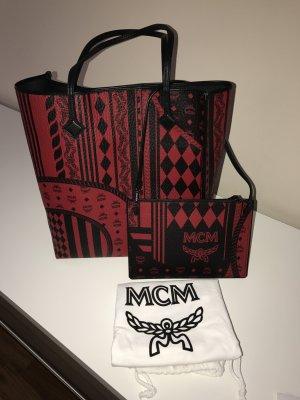 NEU! MCM Shopper Rot Damentasche Baroque Rot Schwarz