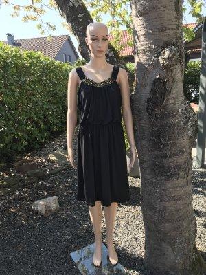 NEU * Mega Pailletten * Sommerkleid schwarz * Pailettenkleid * elegant ❤️ Sommer Beach Party Cocktail Kleid Gr. L 40 42