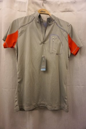Camiseta color plata-rojo