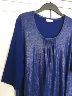 NEU Metallic-Look Shirt Gr. 48/50 - blau/ gold metallic