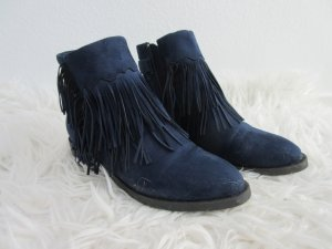 *neu* Mia & Jo stiefelettenblau navy Boots Fransen