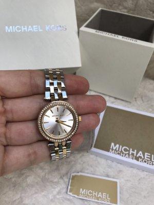 NEU Michael Kors Armbanduhr Damen Bicolor Strass