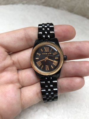 Michael Kors Watch With Metal Strap black-gold-colored stainless steel