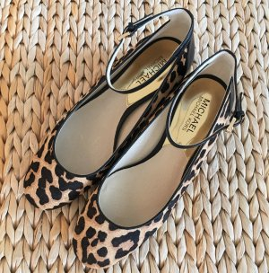 NEU Michael Kors Esther Pumps 37 Mary Janes Leopard Fell AW15 Kollektion